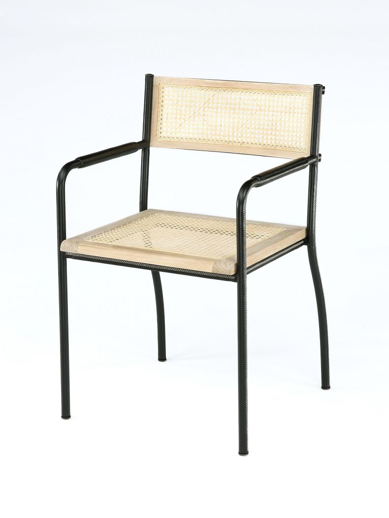 Stitched Armchair in Black by Rose Uniacke_0