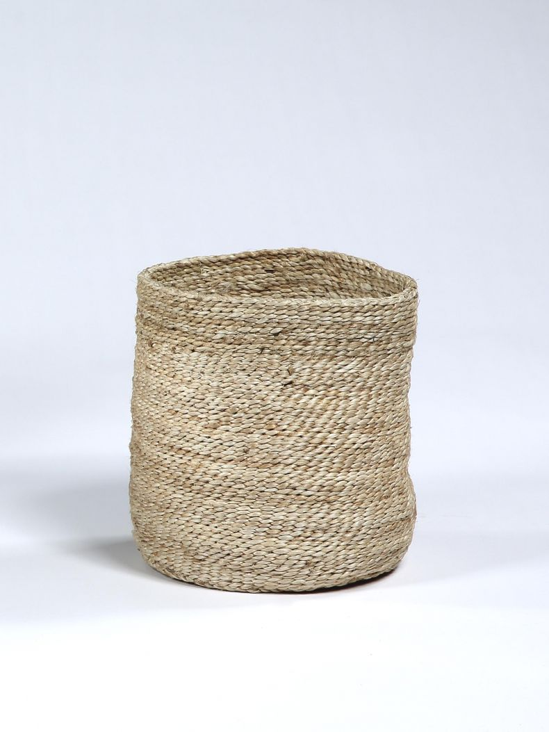 Waste Paper Basket in Natural jute_0