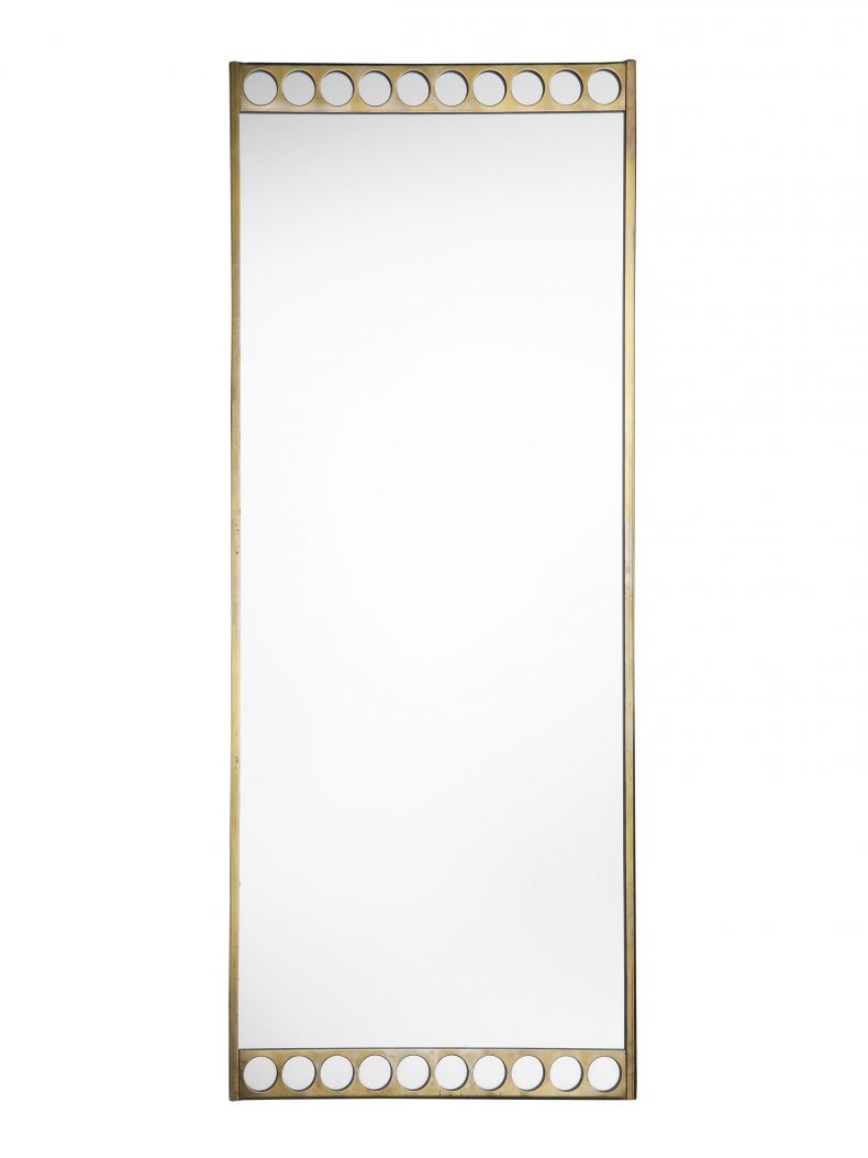 Mid-Century Swedish Brass Pier Mirror_0