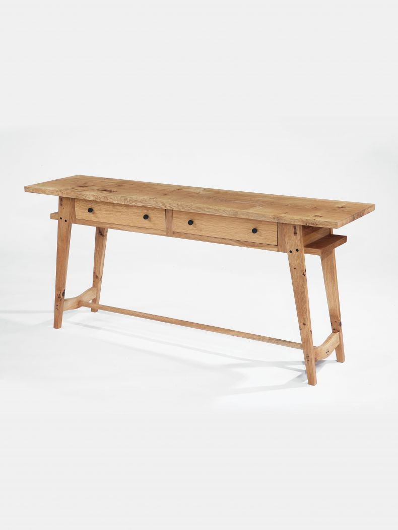 Oak Console Table with Drawers by Rose Unaicke_0