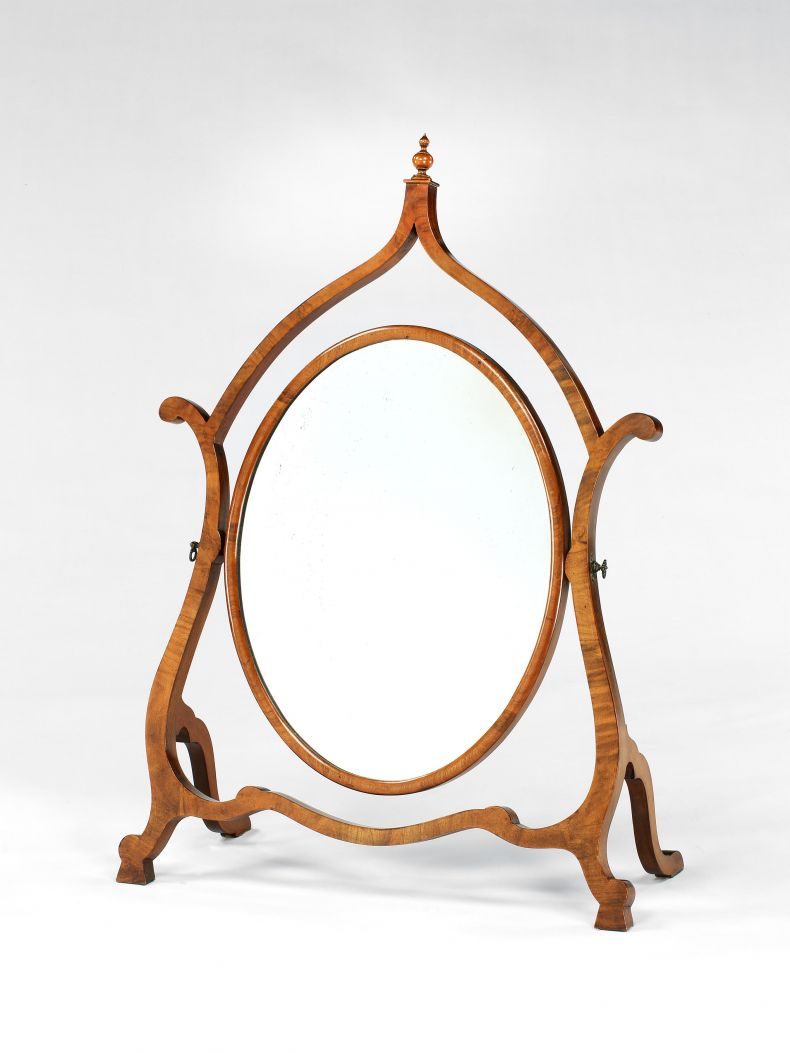 Late 19th Century Walnut Dressing Table Mirror_0