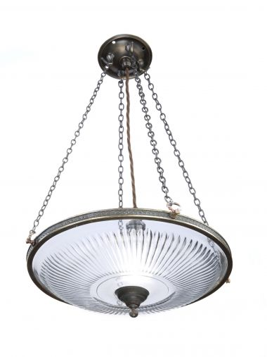 Cut-Glass Hanging Light by F.C. Osler