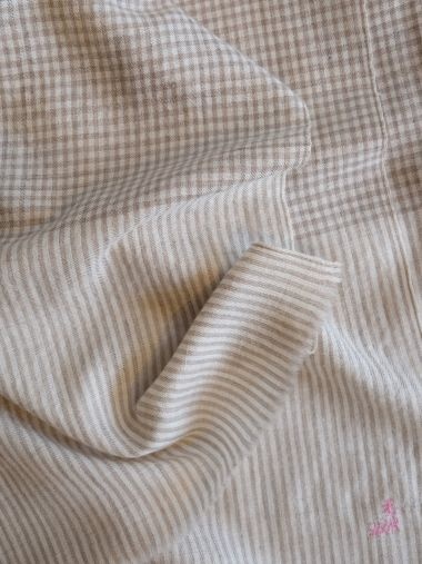 Designer Beige and Cream Tiny Checks Pashmina