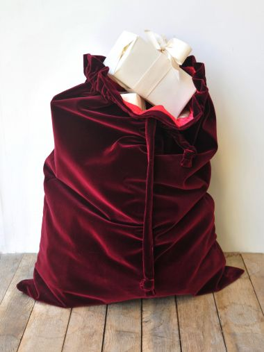 Christmas Sack Burgundy Velvet_3