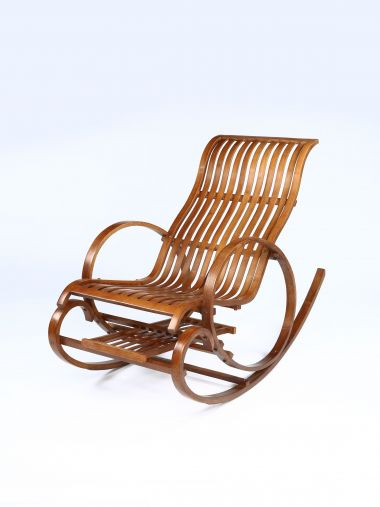 Mid-Century Bentwood Rocking Chair_1