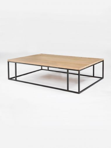 Douglas Fir Patinated Steel Coffee Table_0
