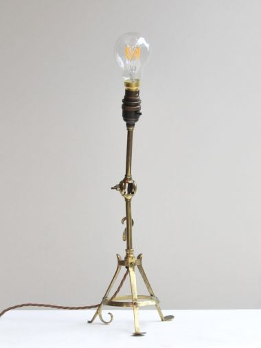 Arts & Crafts Brass Table Lamp_1