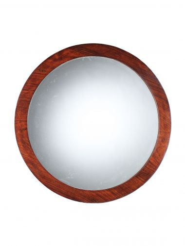 Original Art Deco Rosewood Round Mirror
