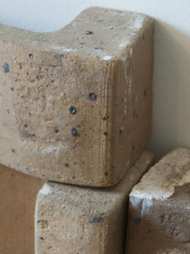 Close up of Free Composition of Ceramic Bricks by Pierre Digan