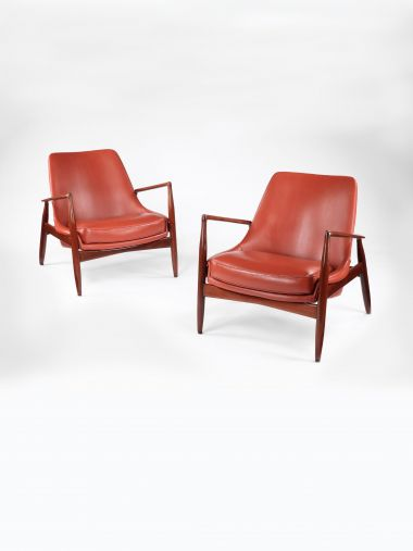 Pair of Sälen Armchairs by Ib Kofod-Larsen_0