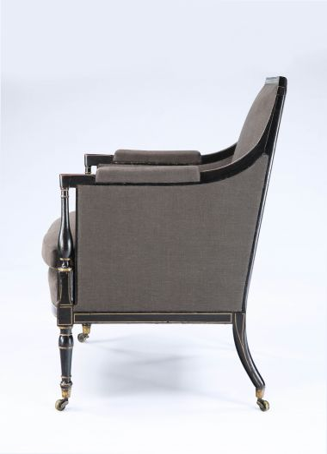 Regency Painted & Parcel Gilt Armchair_2