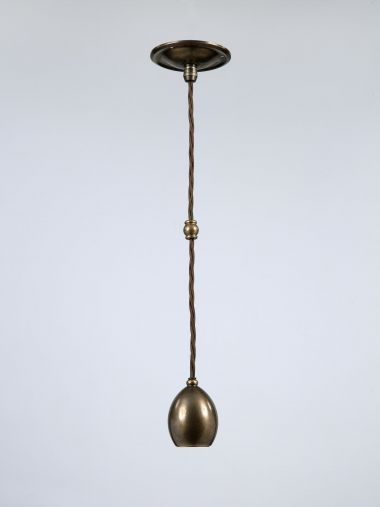 bronze hanging ceiling light by Rose Uniacke