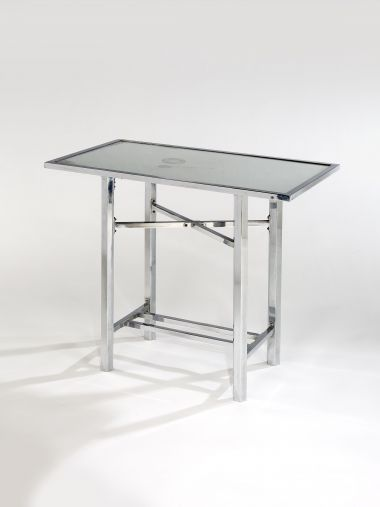 Nickel Plated & Mirrored Occasional Table_0
