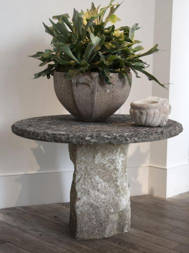 Vintage Early 20th Century Limestone Garden Table