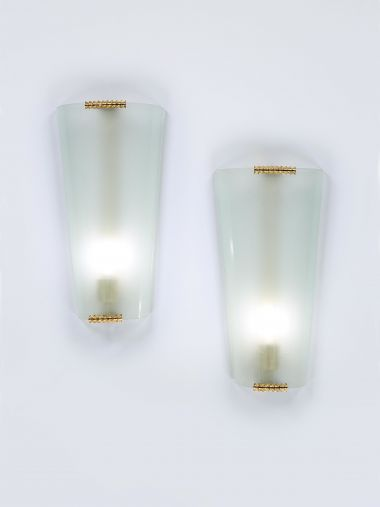 Pair of Art Deco Wall lights by Pietro Chiesa for Fontana Arte_0