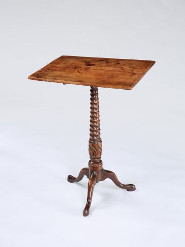 18th Century Yewood Tripod Side Table_0