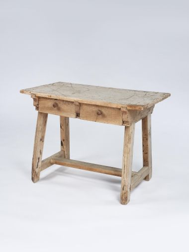 Bleached Walnut Writing Table_0