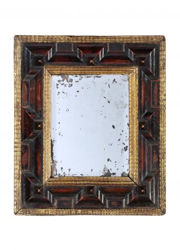Flemish Carved & Gilded Ripple Frame Mirror_0