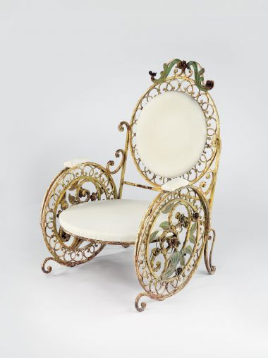 Late 19th Century Wrought Iron Chair_0