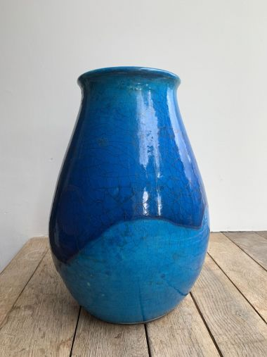 Rare Turqouise Vase by Jean Besnard_3