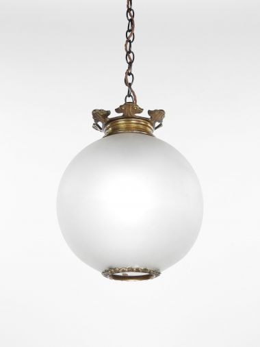 Late 19th Century Opalescent Glass Hanging Light_0