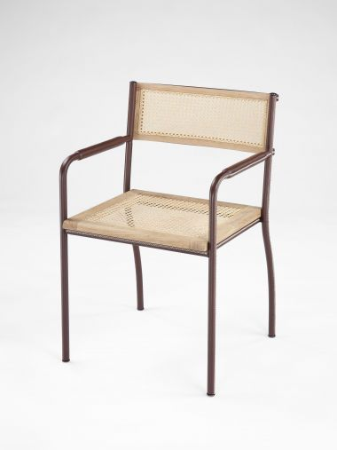 Stitched Armchair in Brown by Rose Uniacke_0