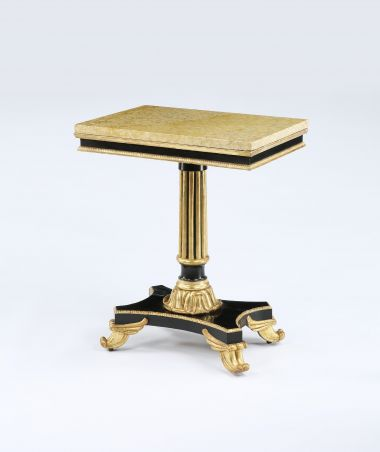 Antique Regency Parcel Gilt Occasional Table