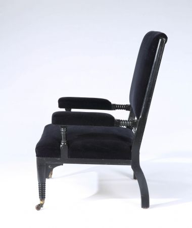 Ebonised Aesthetic Movement Armchair_1