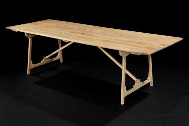 Folding 'Campaign' Refectory Table by Rose Uniacke_1