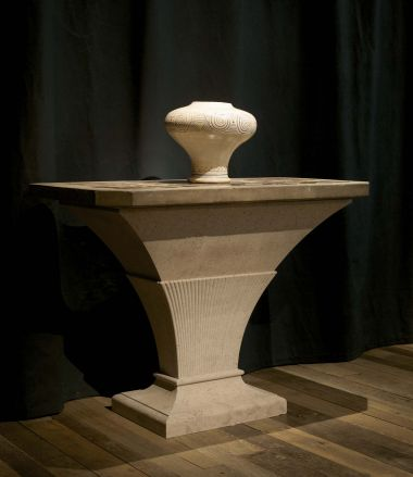 George III Portland Stone, Blue John Marble Table_2