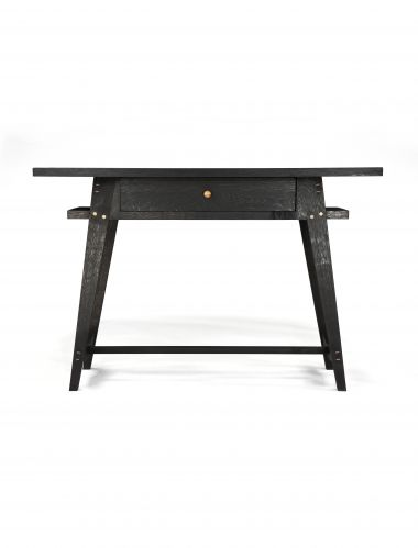Ebonised Oak Console Table with Drawers_0