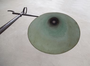 Rare Table Lamp of Patinated Bronze_4