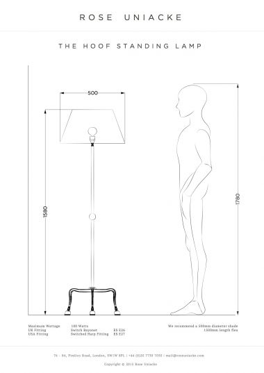 The Hoof Standing Lamp by Rose Uniacke_3