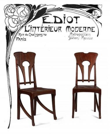 Set of Four Art Nouveau Side Chairs_2