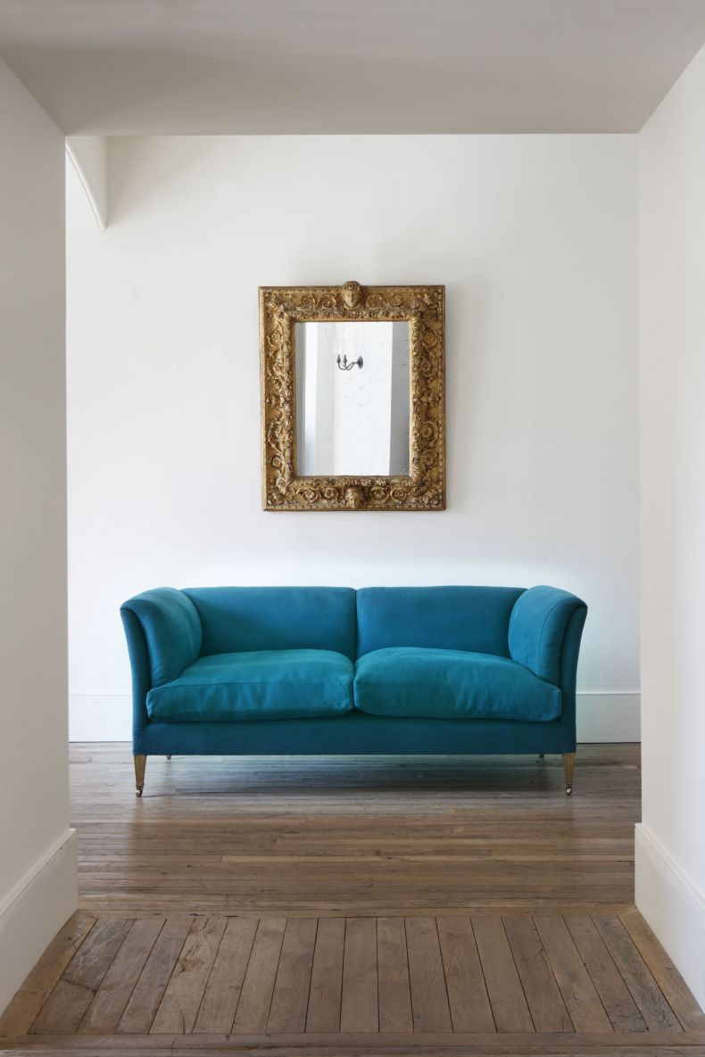 Heavy Weight Linen in Teal by Rose Uniacke_0