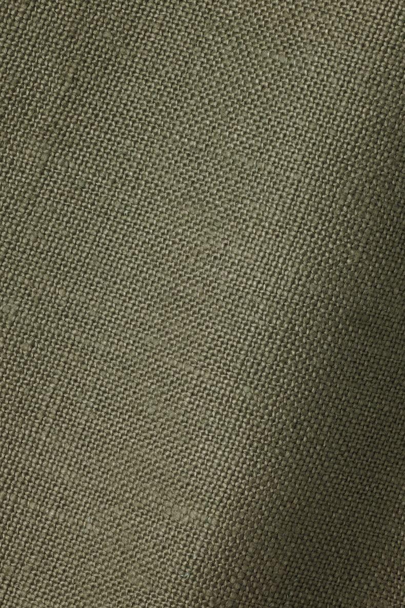 Heavy Weight Linen in Olive_0