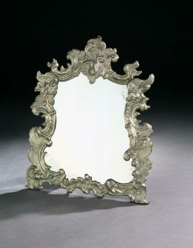 19th Century Silvered Mirror in the Rococo Taste_0