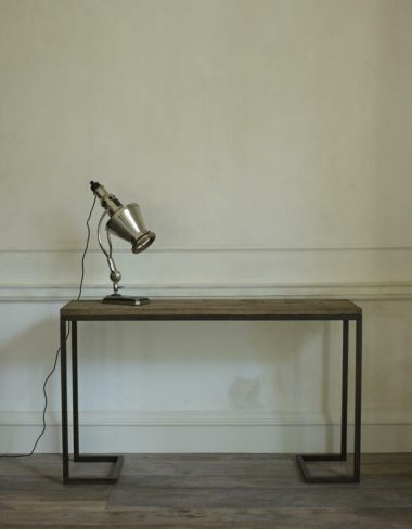 The Patinated Steel Console Table by Rose Uniacke