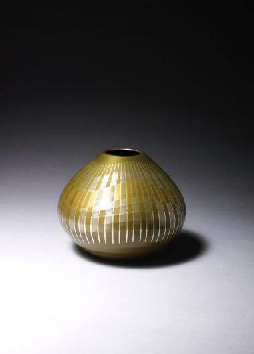 Silver Inlaid Flower Vase by Ichikawa Masami_1