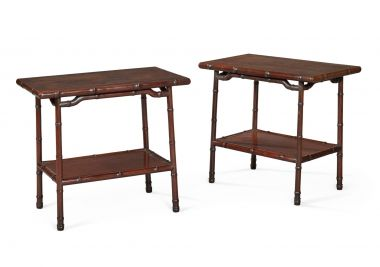 Pair of Chinese Export Side Tables_1