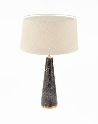 Limited Edition 'Once a Week' Limestone Cone Lamp_0