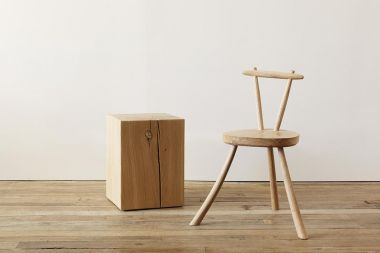 Natural Solid Oak Cube Table by Rose Uniacke_1