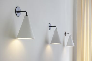 Plaster Cone Wall Light by Rose Uniacke_3