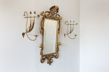 Set of Four Arts & Crafts Gilded Wall Lights_1
