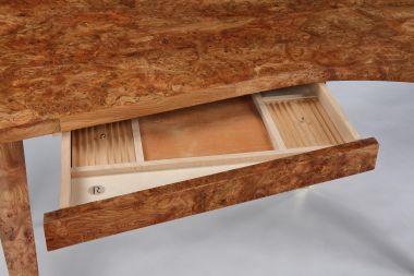 Limited Edition Veneered Writing Desk in Burr Elm_1
