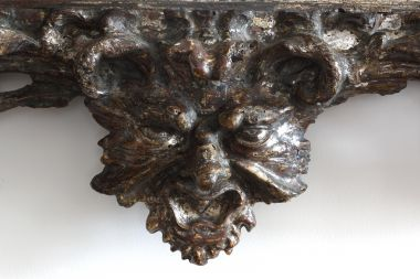 17th Century Italian Carved & Silvered Mirror_3