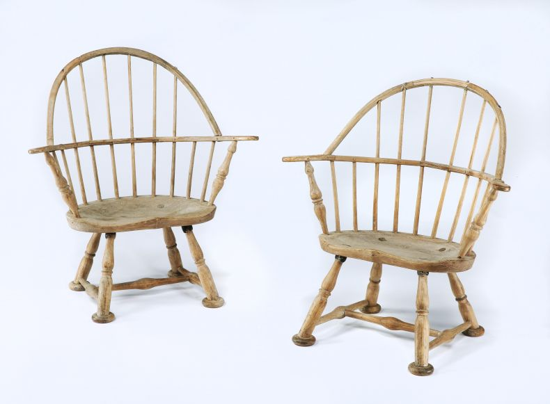 A pair of Windsor Elbow Chairs. Probably Welsh.