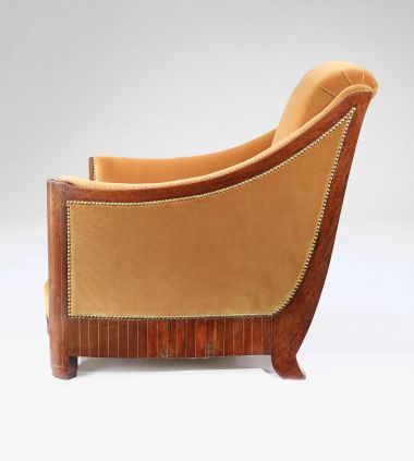 Pair of Upholstered Armchairs attributed to Francisque Chaleyssin_2