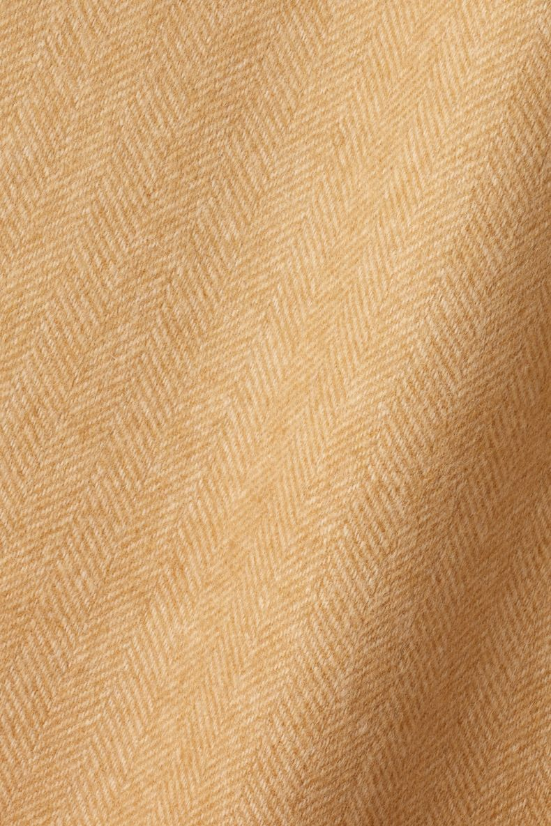 Wool in Herringbone Toffee Camel by Rose Uniacke_0