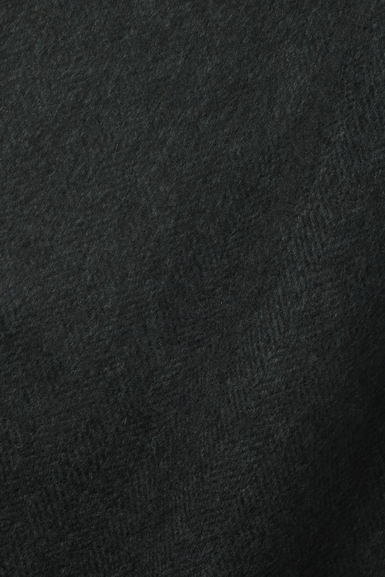 Wool in Herringbone Navy/Midnight_0